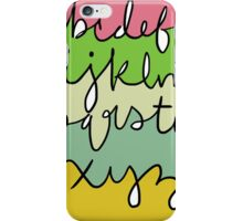 Alphabet (With Color) iPhone Case/Skin