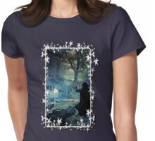A Silver Doe  - white framed Womens Fitted T-Shirt