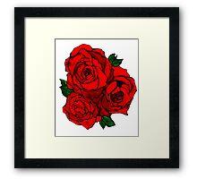 Watercolor Rose Framed Print