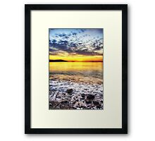 The waves that calm me Framed Print