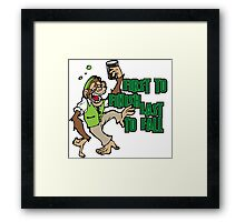 Drunk Monkey Framed Print