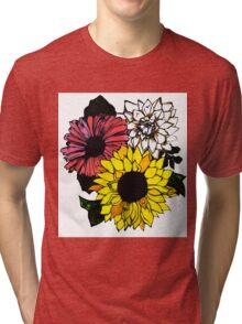 Sunflower Center Tri-blend T-Shirt