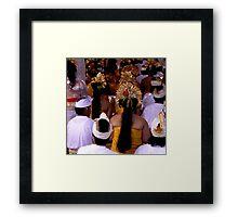 Praying in Ubud, Bali Framed Print