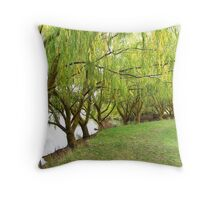 Avenue of Willows  Throw Pillow