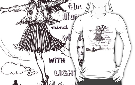 Happy Tee by Voila and Black Ribbon