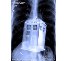 Doctor WHO IS IN ME? Photographic Print