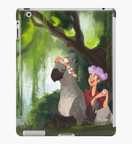 Flower Crowns and Hippogriffs iPad Case/Skin
