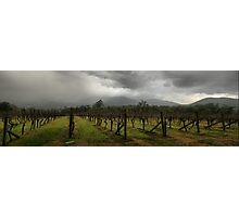 Rain over Yarra Burn Photographic Print