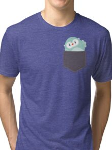 POCKET PALS :: owl - foam Tri-blend T-Shirt