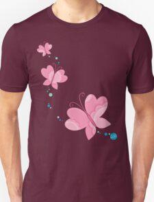 FLUTTERBY BUTTERFLY :: pink + aqua + foam Unisex T-Shirt