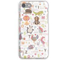 Animal Alphabet iPhone Case/Skin