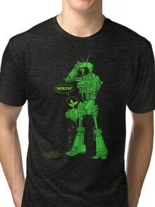 world of tomorrow (simplified) GREEN Tri-blend T-Shirt