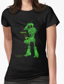 world of tomorrow (simplified) GREEN Womens Fitted T-Shirt