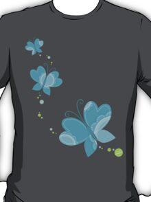 FLUTTERBY BUTTERFLY :: aqua + foam + lime T-Shirt
