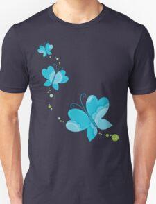 FLUTTERBY BUTTERFLY :: aqua + foam + lime Unisex T-Shirt