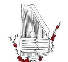 Autoharp & Roses by SarahRedShoes