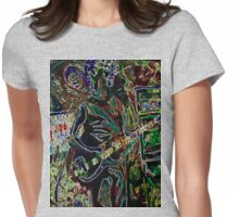 Deer Creek Cactus Womens Fitted T-Shirt