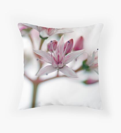 Watercolour Blossoms Throw Pillow