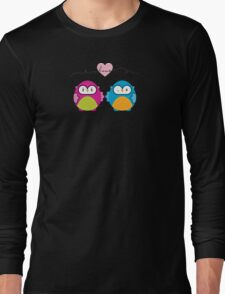 OWLS IN LOVE :: bright Long Sleeve T-Shirt