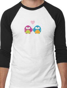OWLS IN LOVE :: bright Men's Baseball ¾ T-Shirt