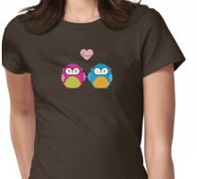 OWLS IN LOVE :: bright Womens Fitted T-Shirt