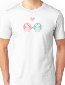 OWLS IN LOVE :: pastel Unisex T-Shirt