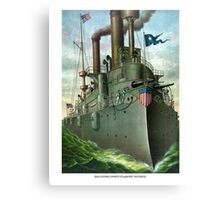 Admiral Dewey's Flagship Olympia Canvas Print