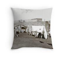 Colonial Scots Encampment Throw Pillow
