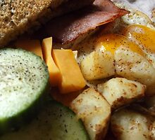Sunday Morning Ham and Eggs by M Sylvia Chaume