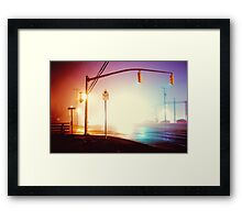 Foggy Night Framed Print