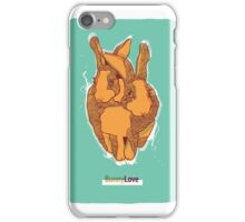 Bunny Love - Orange Version  iPhone Case/Skin
