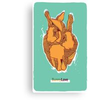 Bunny Love - Orange Version  Canvas Print