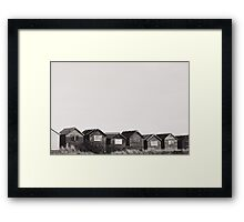 The Great British Beach Hut. Framed Print