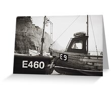 Those boats which lay upon the land. Greeting Card