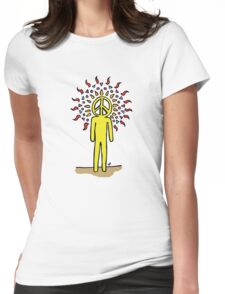 Peace be in you! Womens Fitted T-Shirt