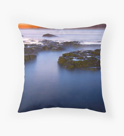 Newcastle Beach Sunrise Throw Pillow