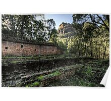 Sandstone Cliffs and Ruins - Newnes - Wollemi National Park, NSW Poster