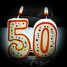 50th Birthday by Greeting Cards by Tracy DeVore