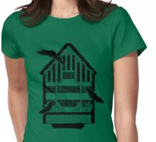 Bat House (in black) Womens Fitted T-Shirt