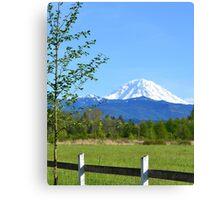 Mount Rainier Grandeur Canvas Print