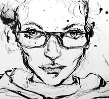 Ink Portrait by ErikaNicole