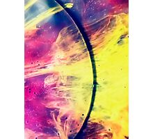 Solar storm 3 - watercolor abstraction painting Photographic Print