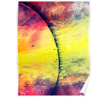 Solar storm 4 - watercolor abstraction painting Poster