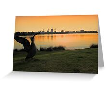 Swan River - Perth Western Australia   Greeting Card
