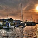 Fiery Sky Over the Lagoon - Grado - Italy by paolo1955