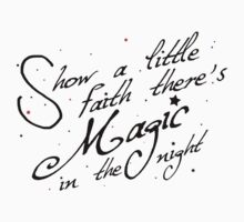 Magic in the night - black text Kids Clothes