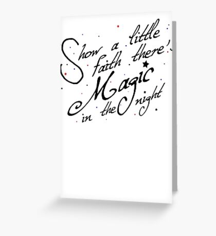 Magic in the night - black text Greeting Card