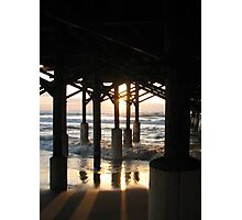 Sunrise Under the Pier Photographic Print