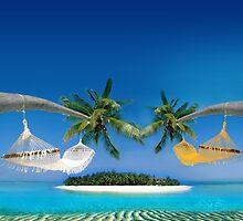Beach hammocks  by Atanas Bozhikov Nasko