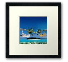 Beach hammocks  Framed Print